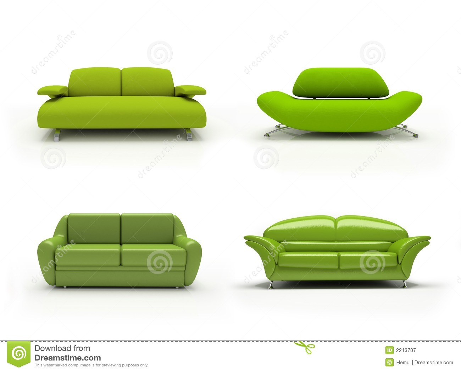 Groene vier moderne banken stock illustratie afbeelding bestaande uit voorwerp 2213707 - Ontwerp banken ...