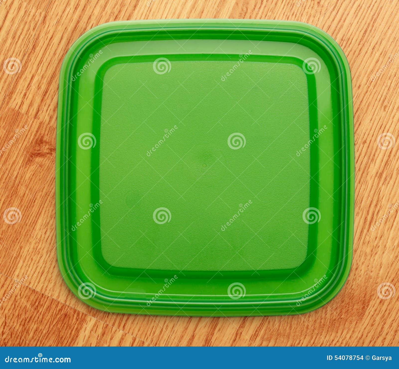 Groene vierkante plastic dekking