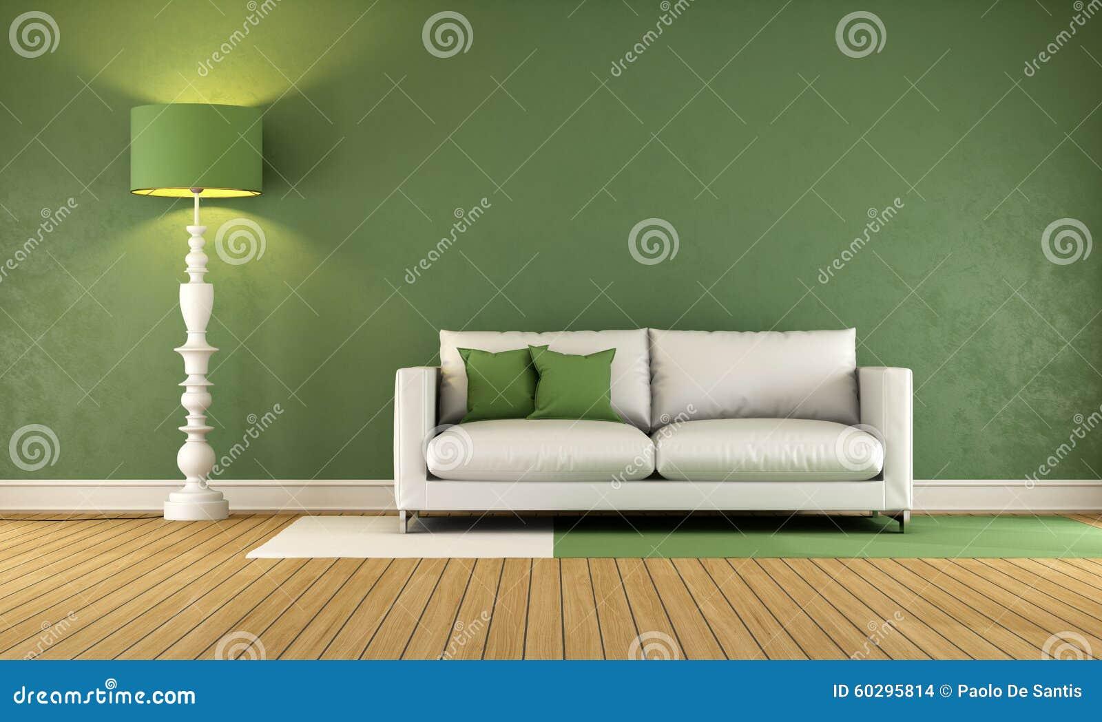 Groene woonkamer stock illustratie. Illustratie bestaande uit vloer ...