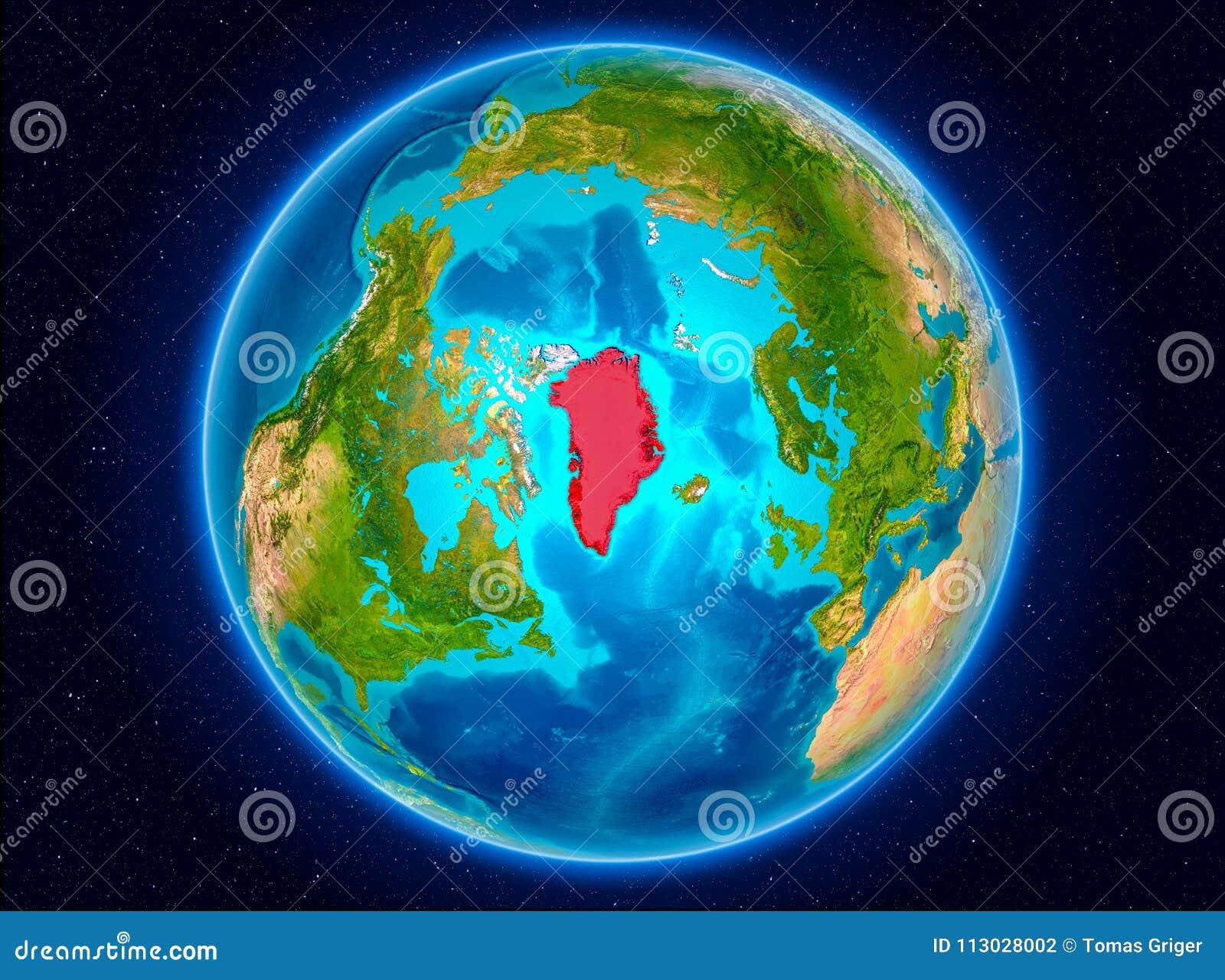 Groenlandia en la tierra
