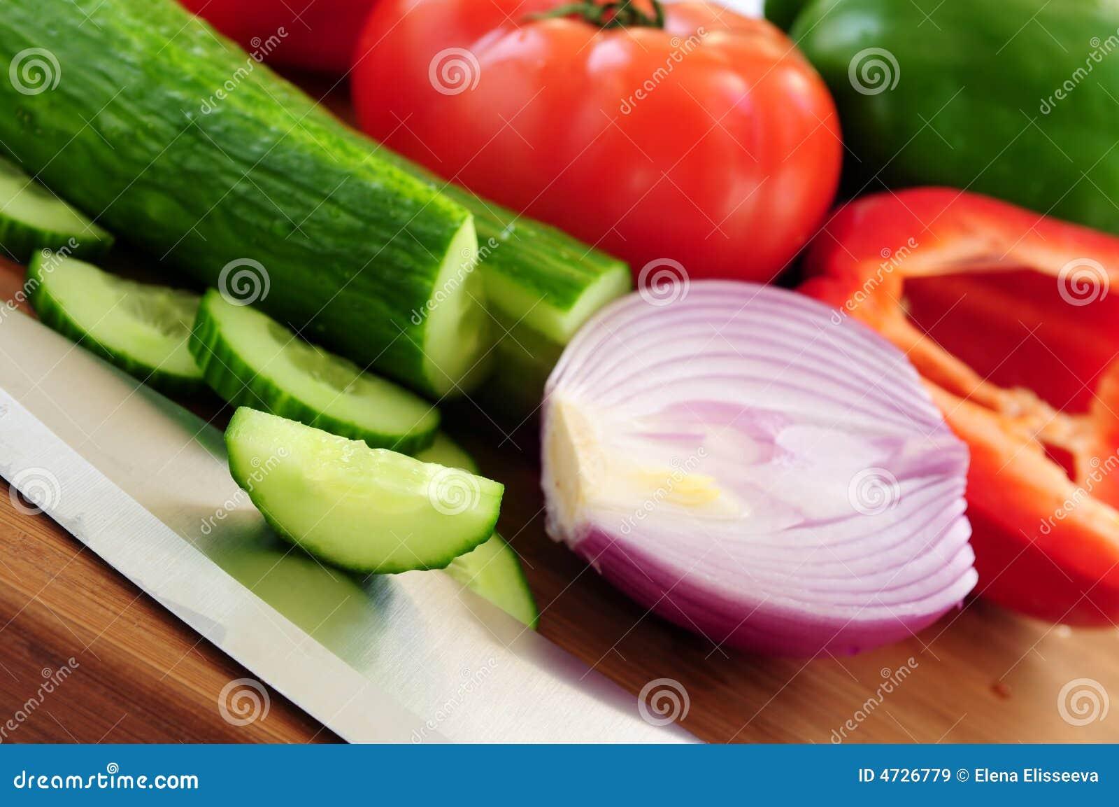 groenten voor salade stock afbeelding afbeelding bestaande uit chef 4726779. Black Bedroom Furniture Sets. Home Design Ideas