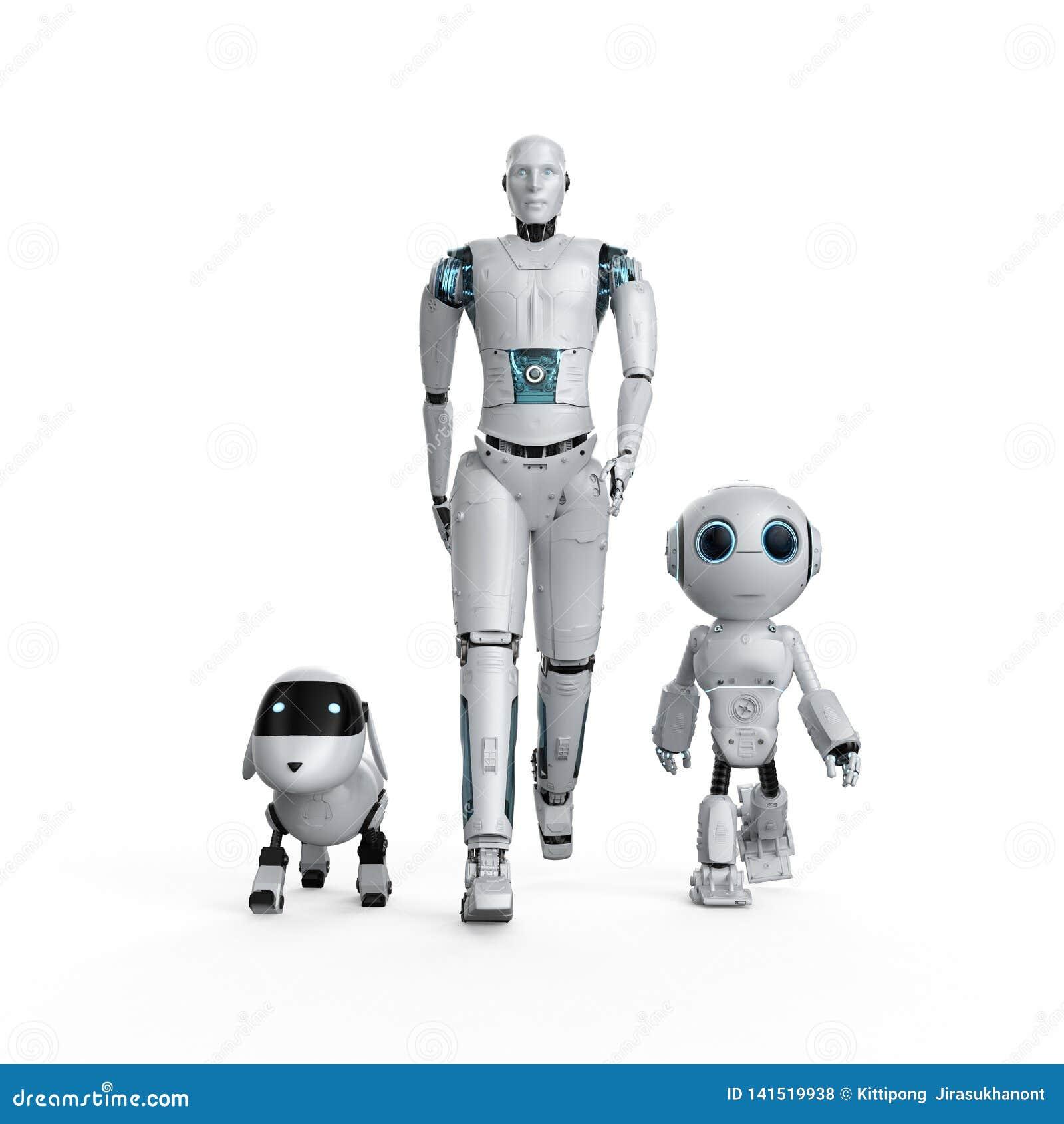 Groep automatiseringsrobots