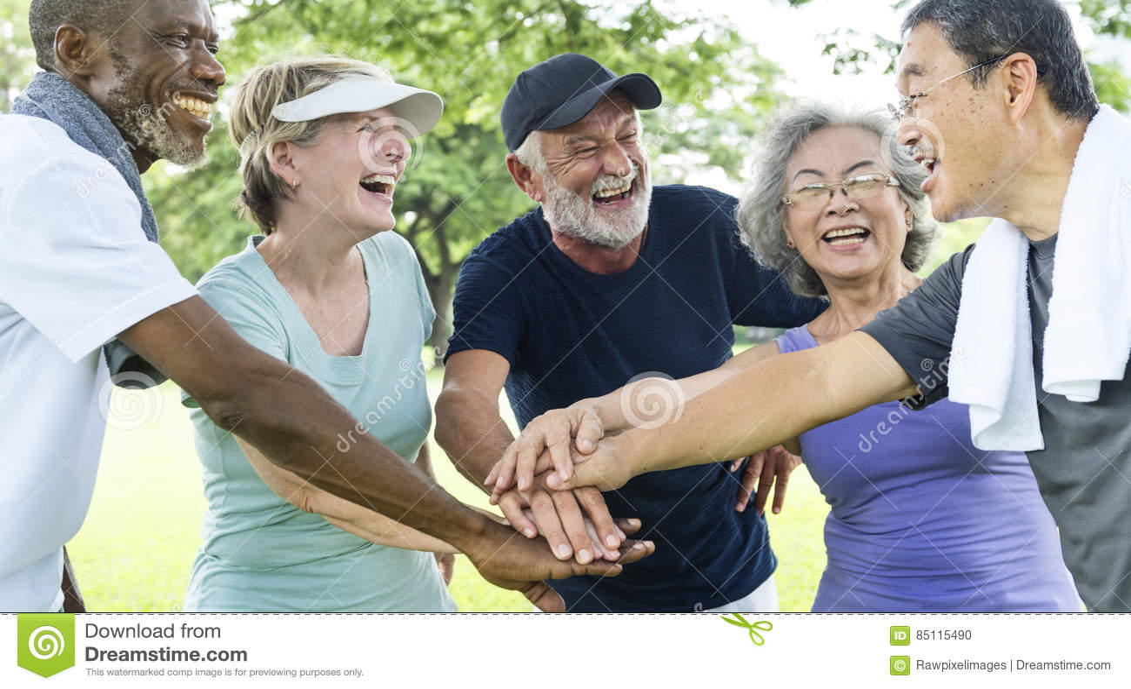 Groep die Hogere Pensionering Samenhorigheidsconcept uitoefenen