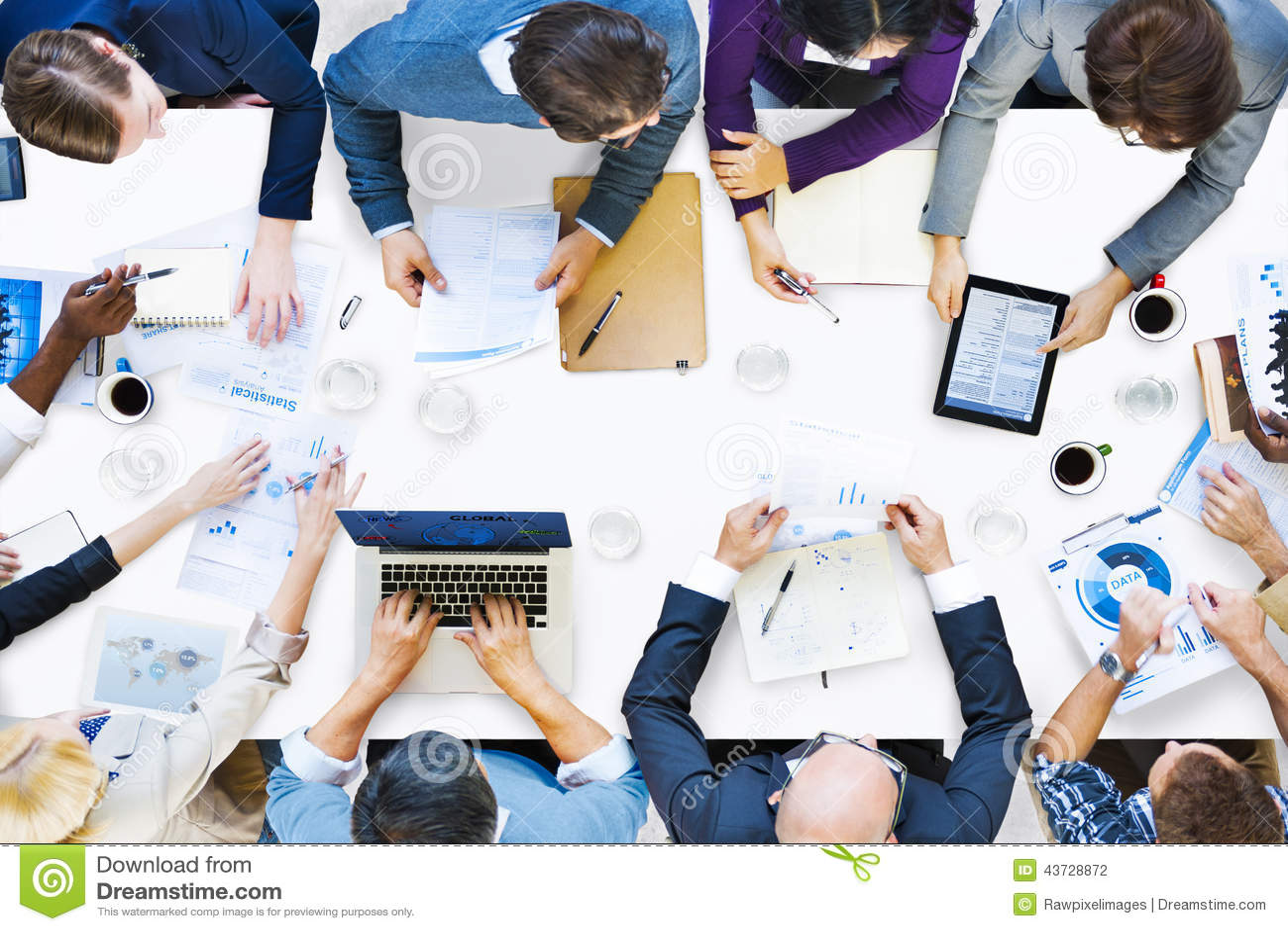 Groep Diverse Bedrijfsmensen op een Vergadering