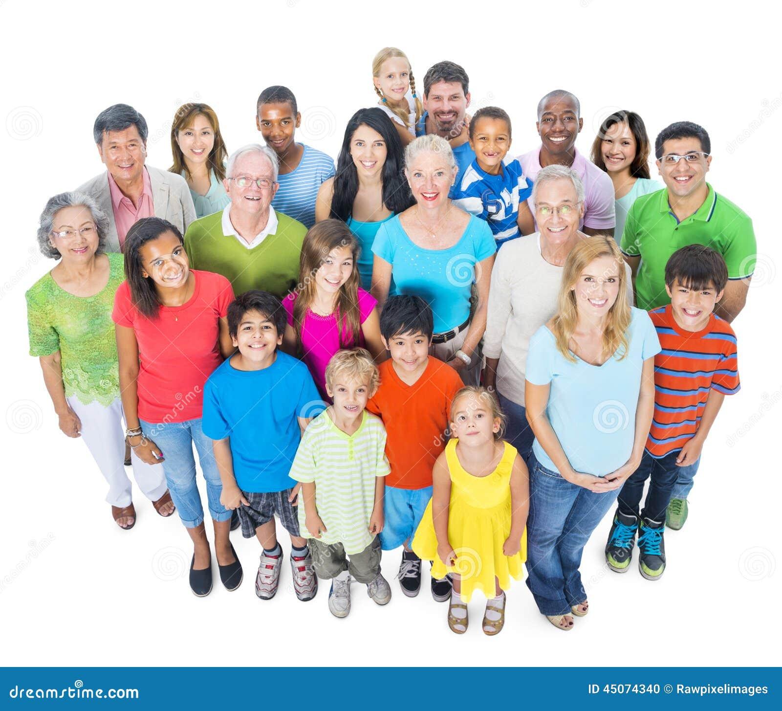 Groep Diverse Mensen die zich verenigen