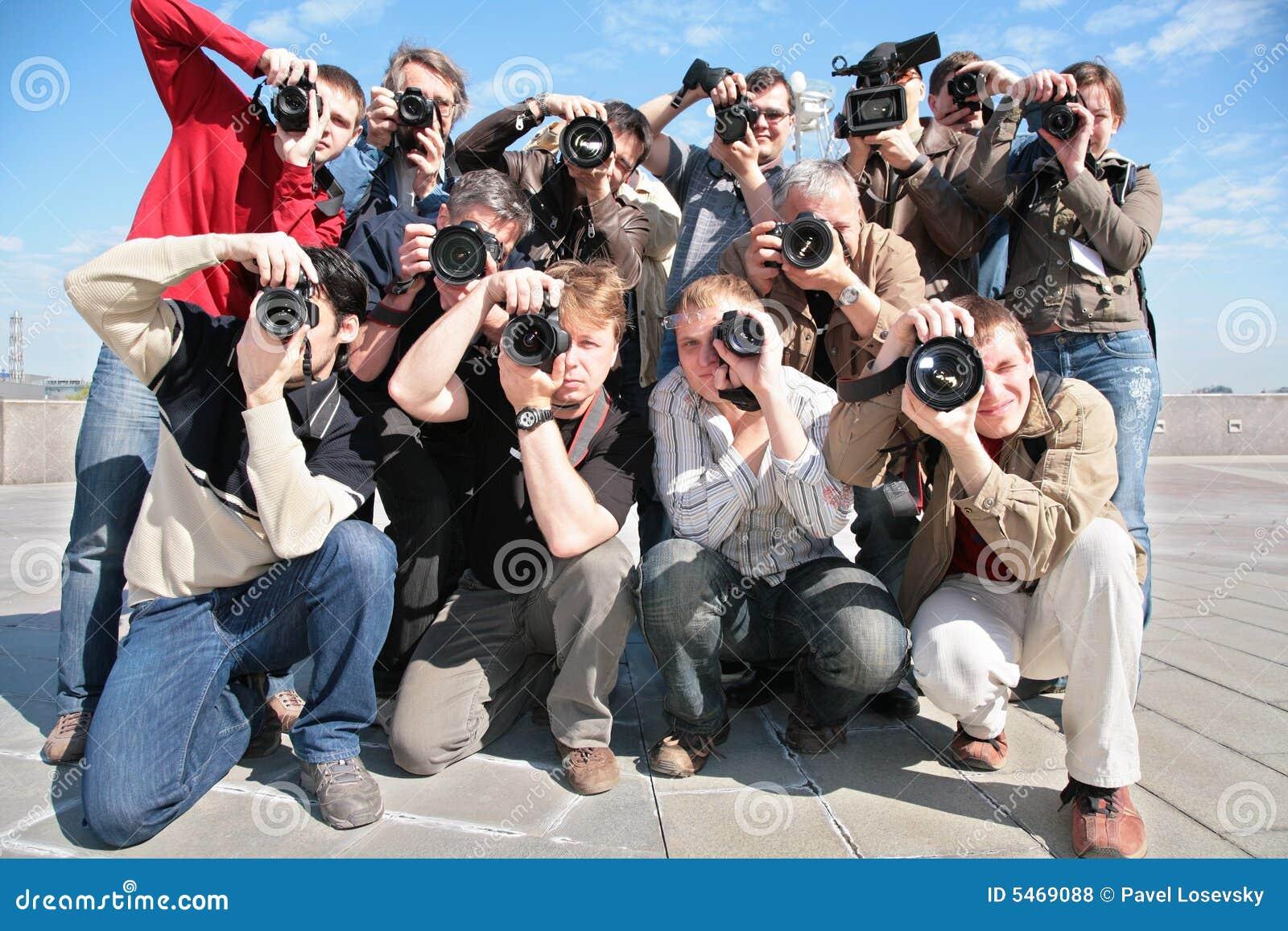 Groep fotografen