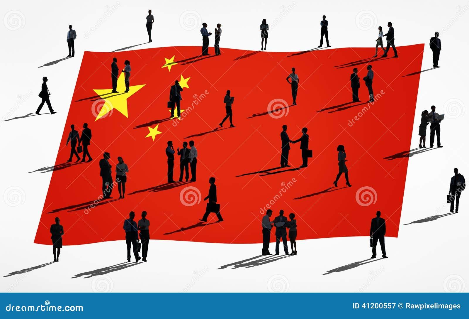 Groep Globale Bedrijfsmensen: China