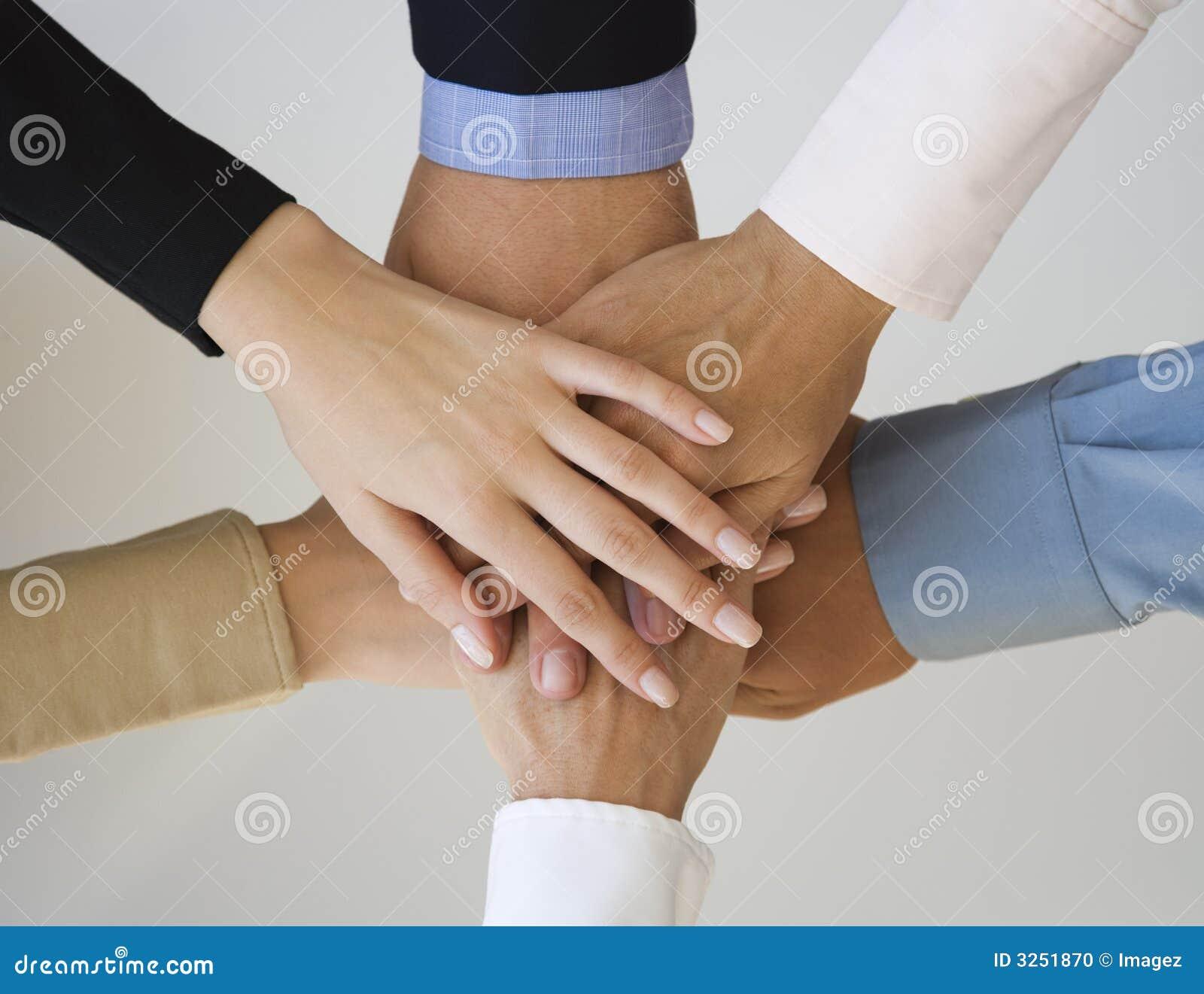 Groep handen