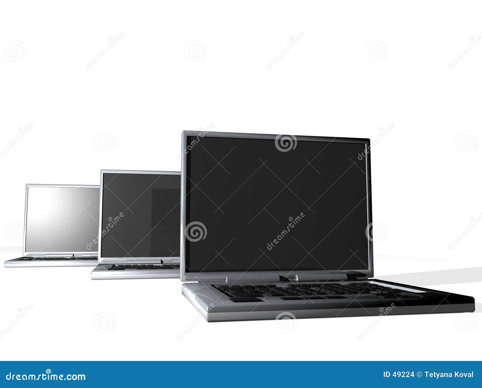 Groep laptops