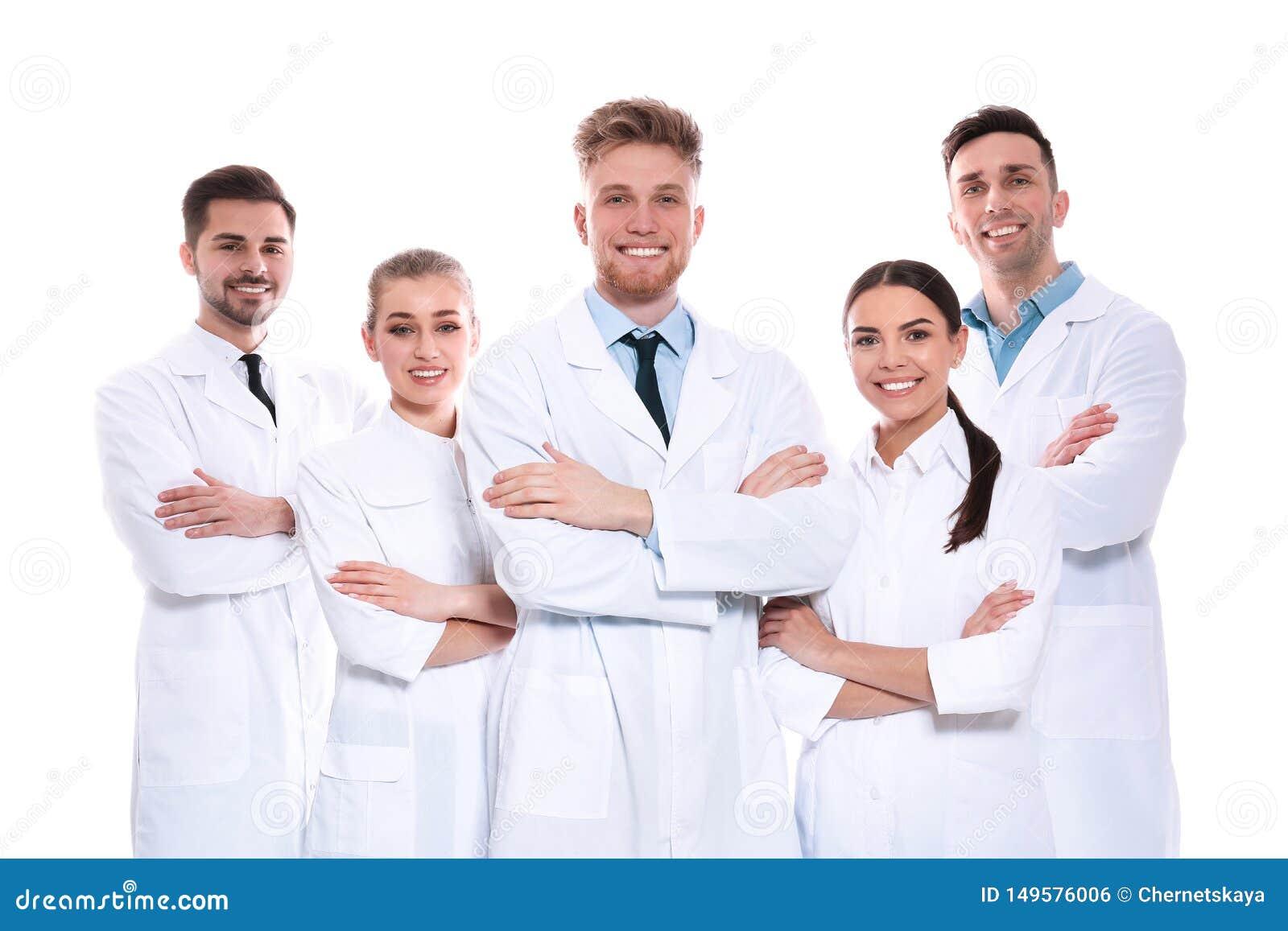 Groep medische geïsoleerde artsen Het concept van de eenheid