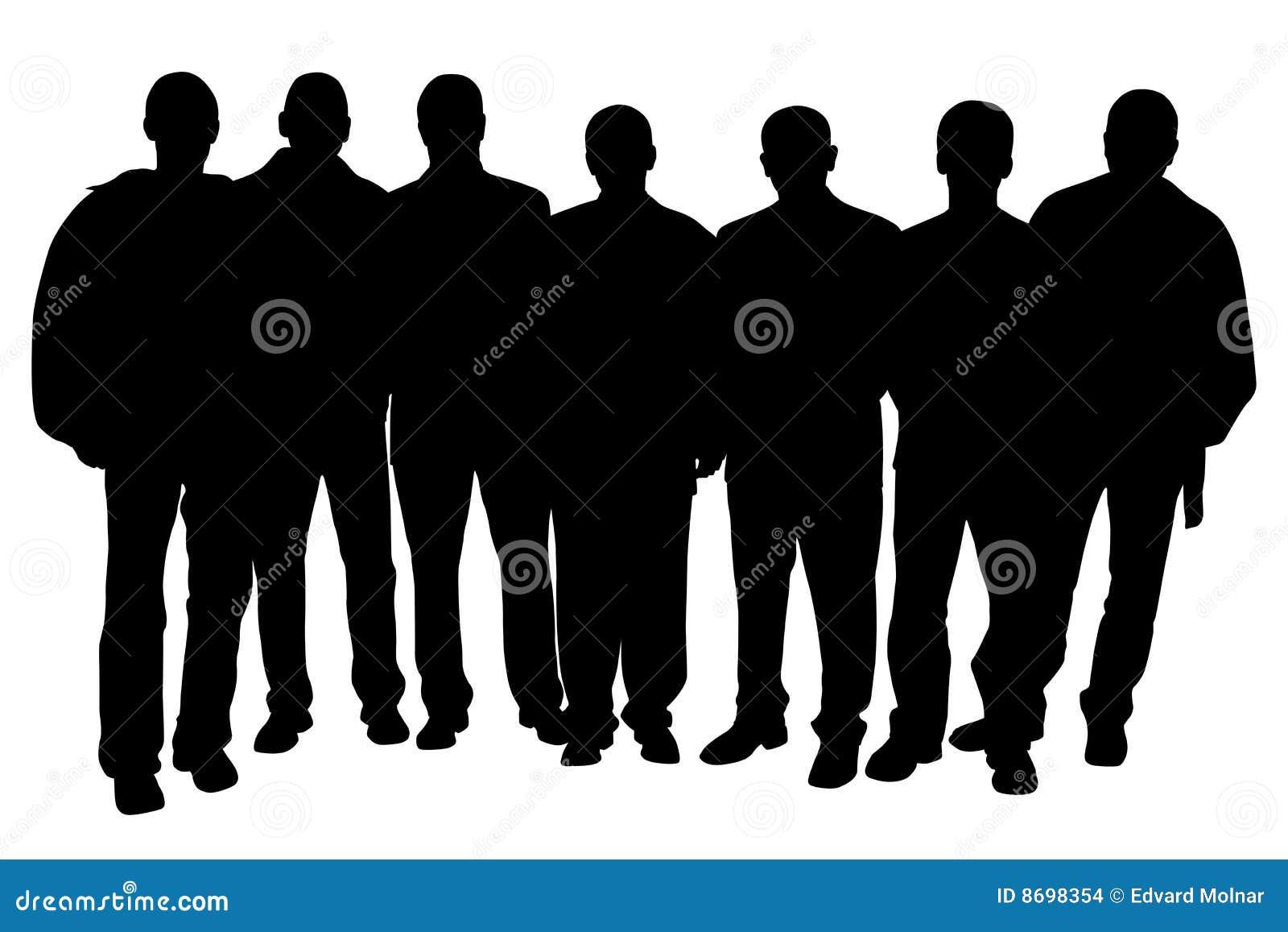 Groep Mensen Vector Illustratie. Illustratie Bestaande Uit