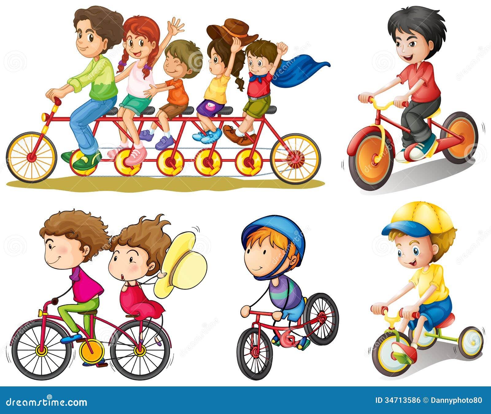 Groep mensen het biking
