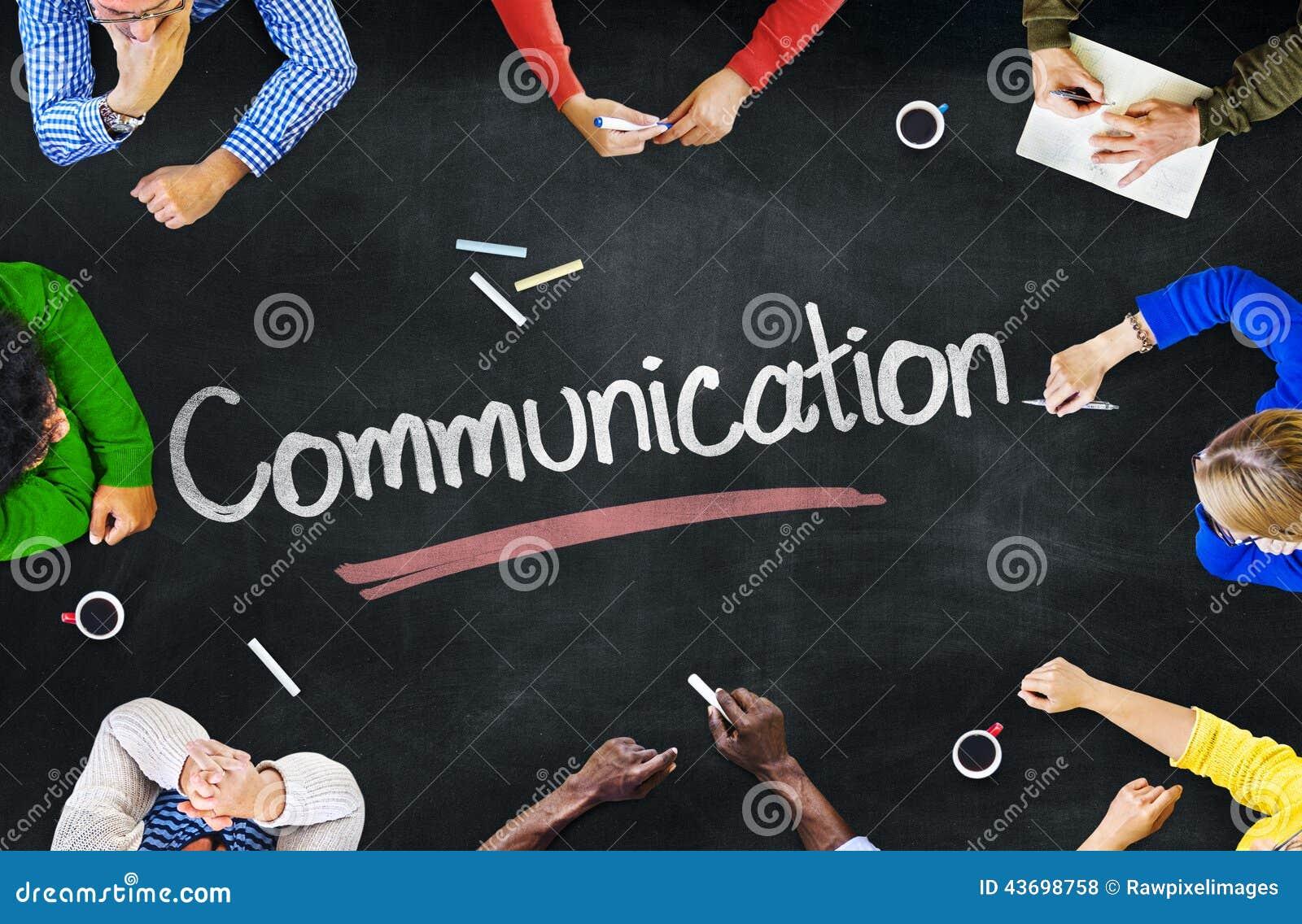 Groep Mensen met Communicatie Concepten