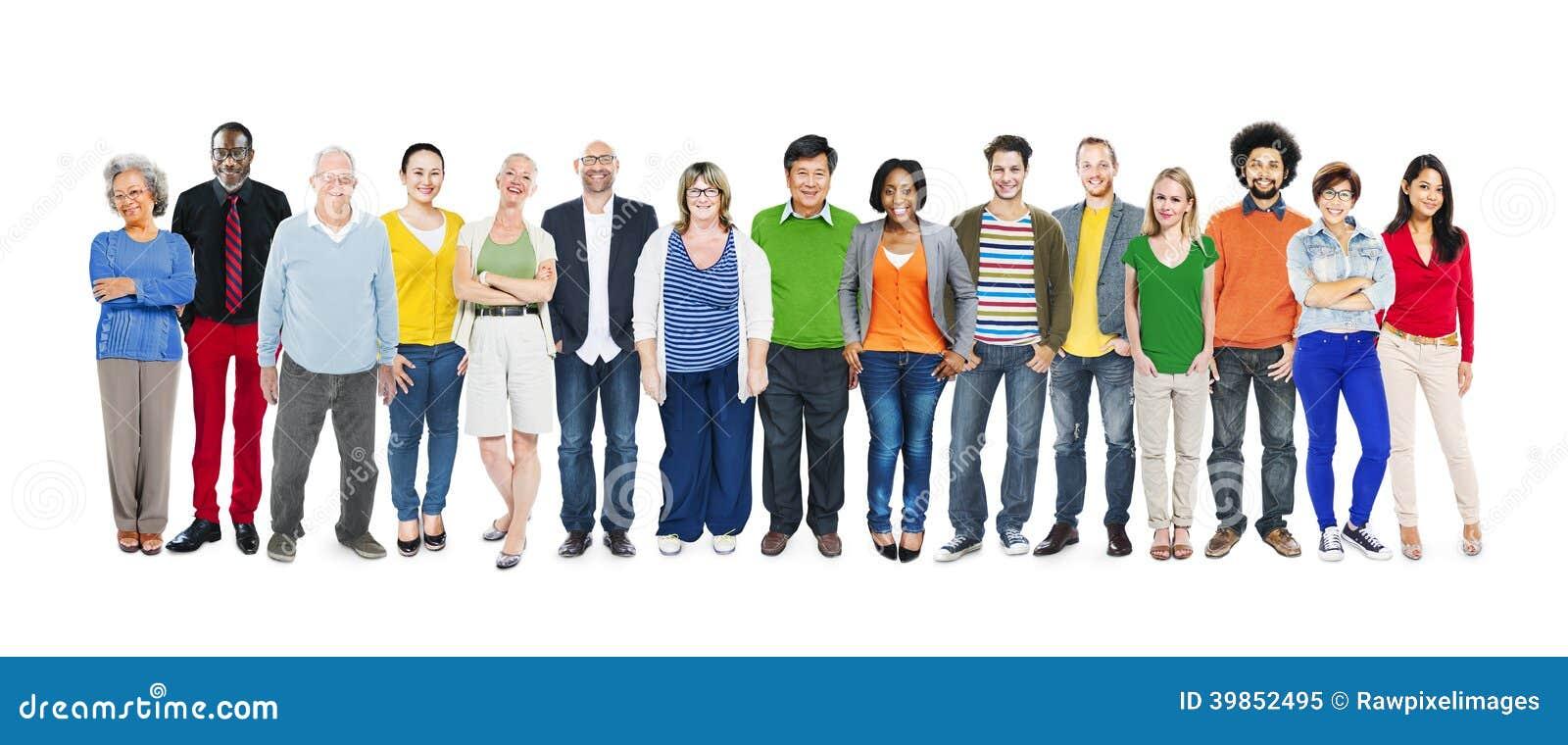 Groep Multi-etnische Diverse Kleurrijke Mensen