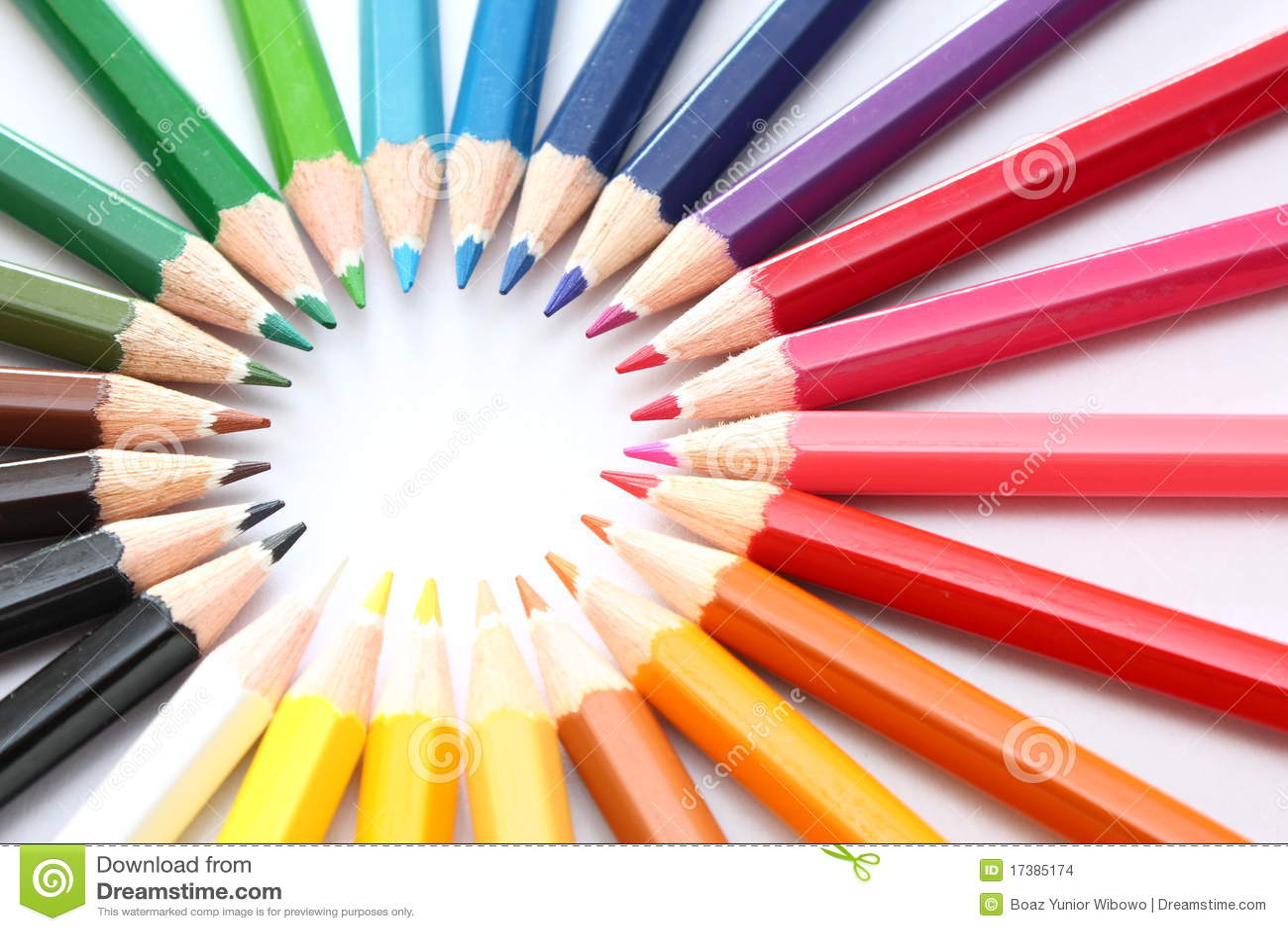 Groep potloden