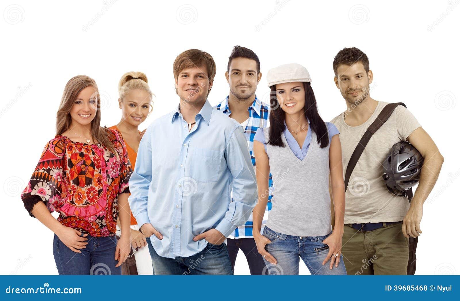 Groep toevallige jongeren