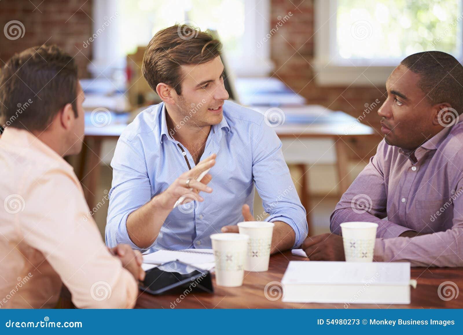 Groep Zakenliedenvergadering om Ideeën te bespreken