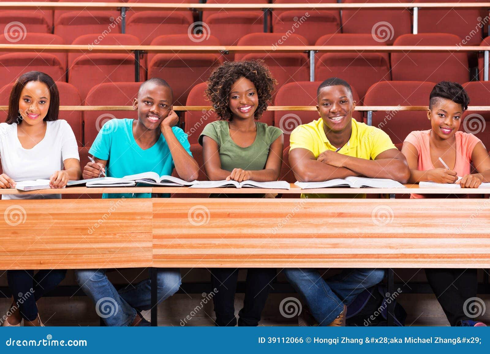 Groeps Afrikaanse studenten
