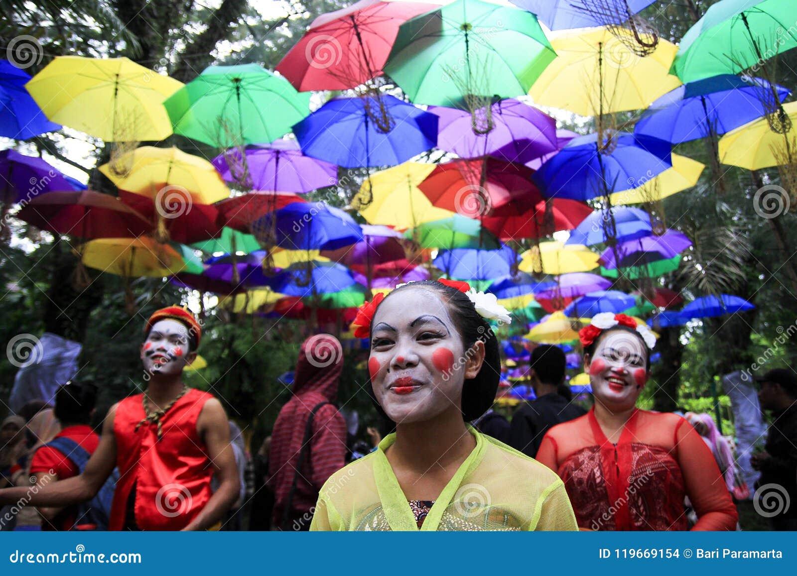 Groeps Javanese Danser Reog Nirboyo