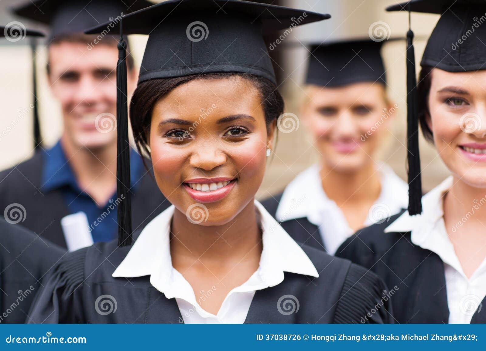 Groeps mensen met universitaire diploma s