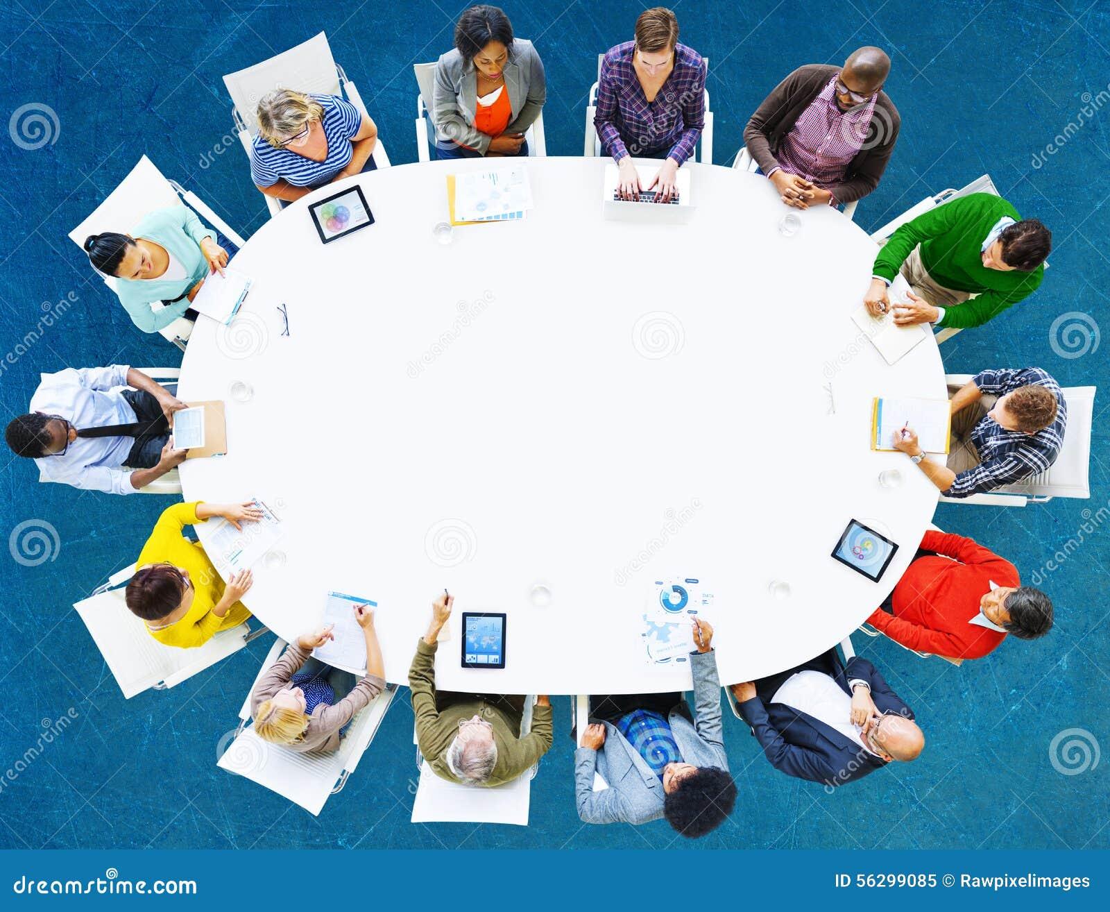 Groeps Mensen van de Commerciële het Concept Vergaderingsbrainstorming
