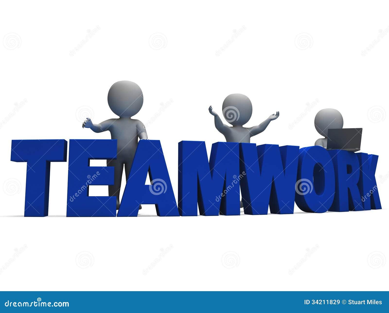 Citaten Samenwerken Xl : Groepswerk die d karakters tonen samenwerken stock