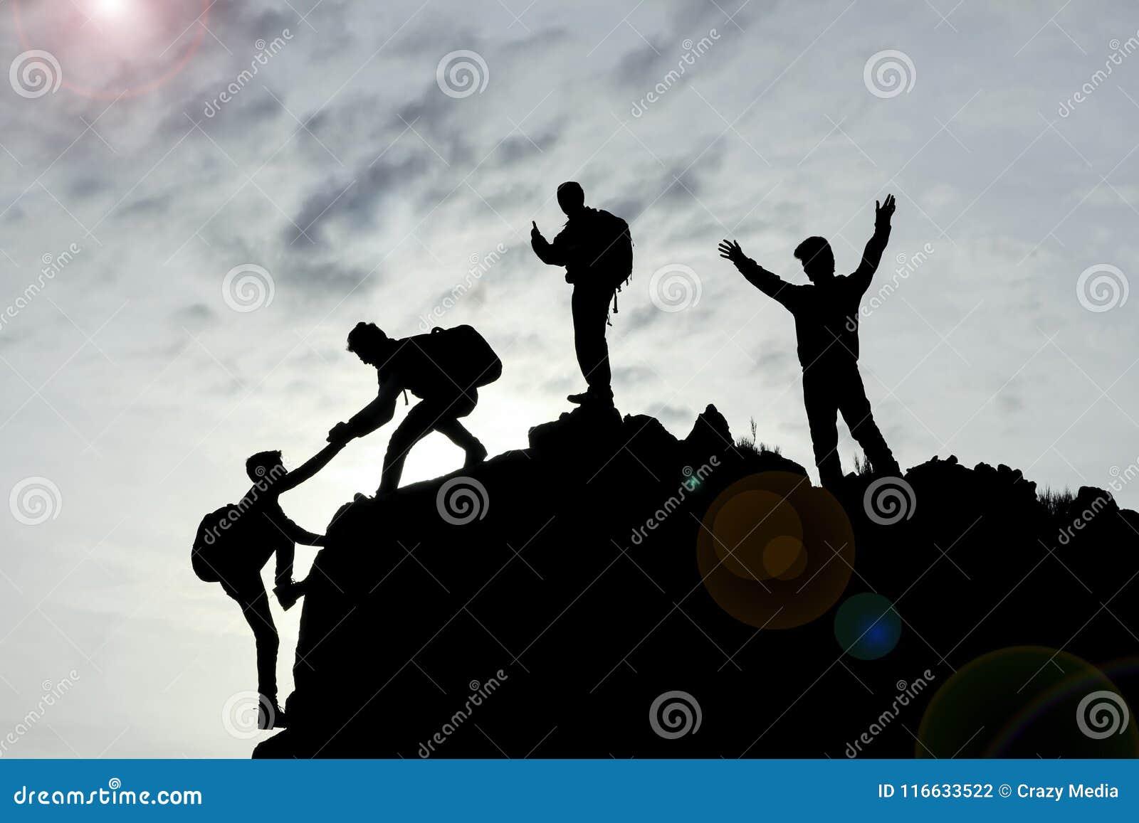 Groepswerk en succes met eenheid en samenwerking