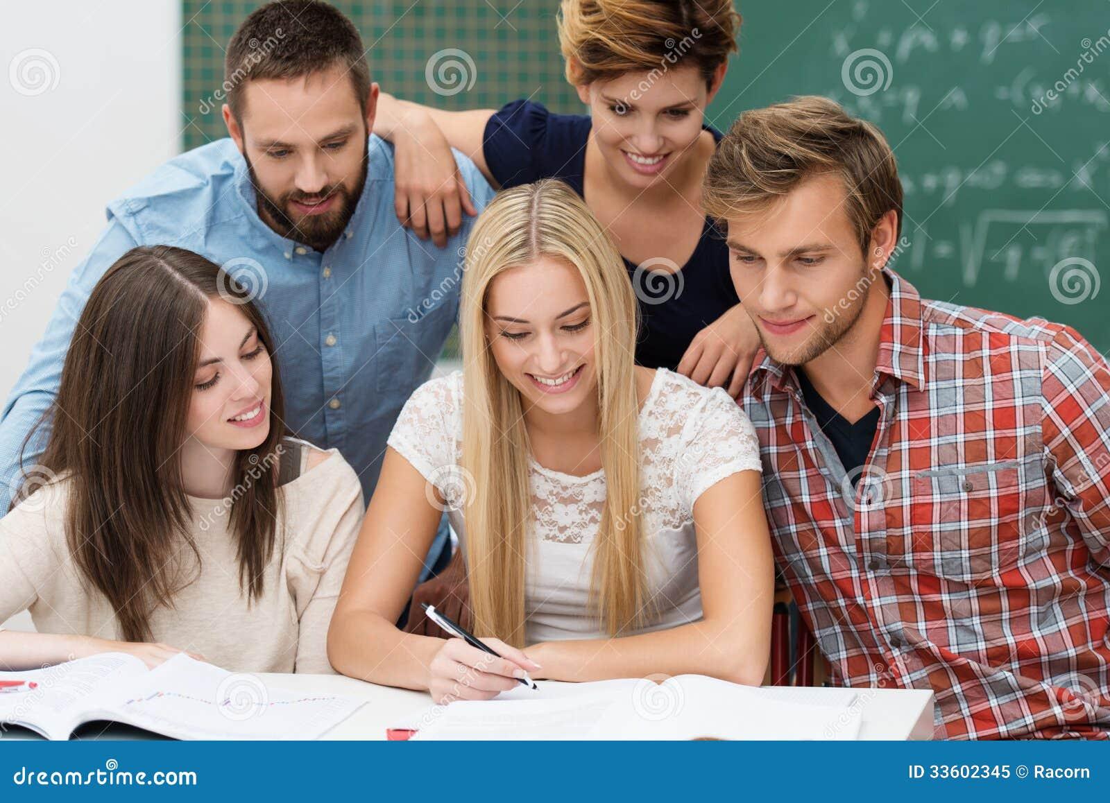Groepswerk onder studenten