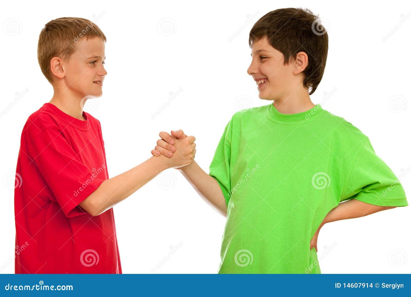 Groet van twee jongens