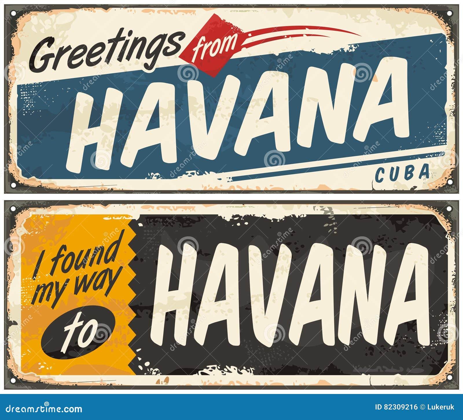 Groeten van Havana Cuba