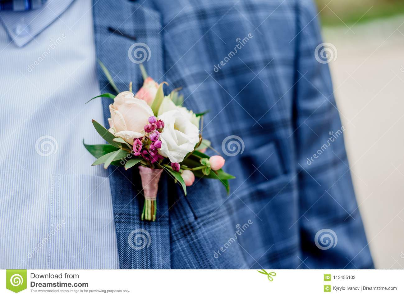 Groom In A Jacket. The Morning Of The Groom, Bridegroom`s Fees ...