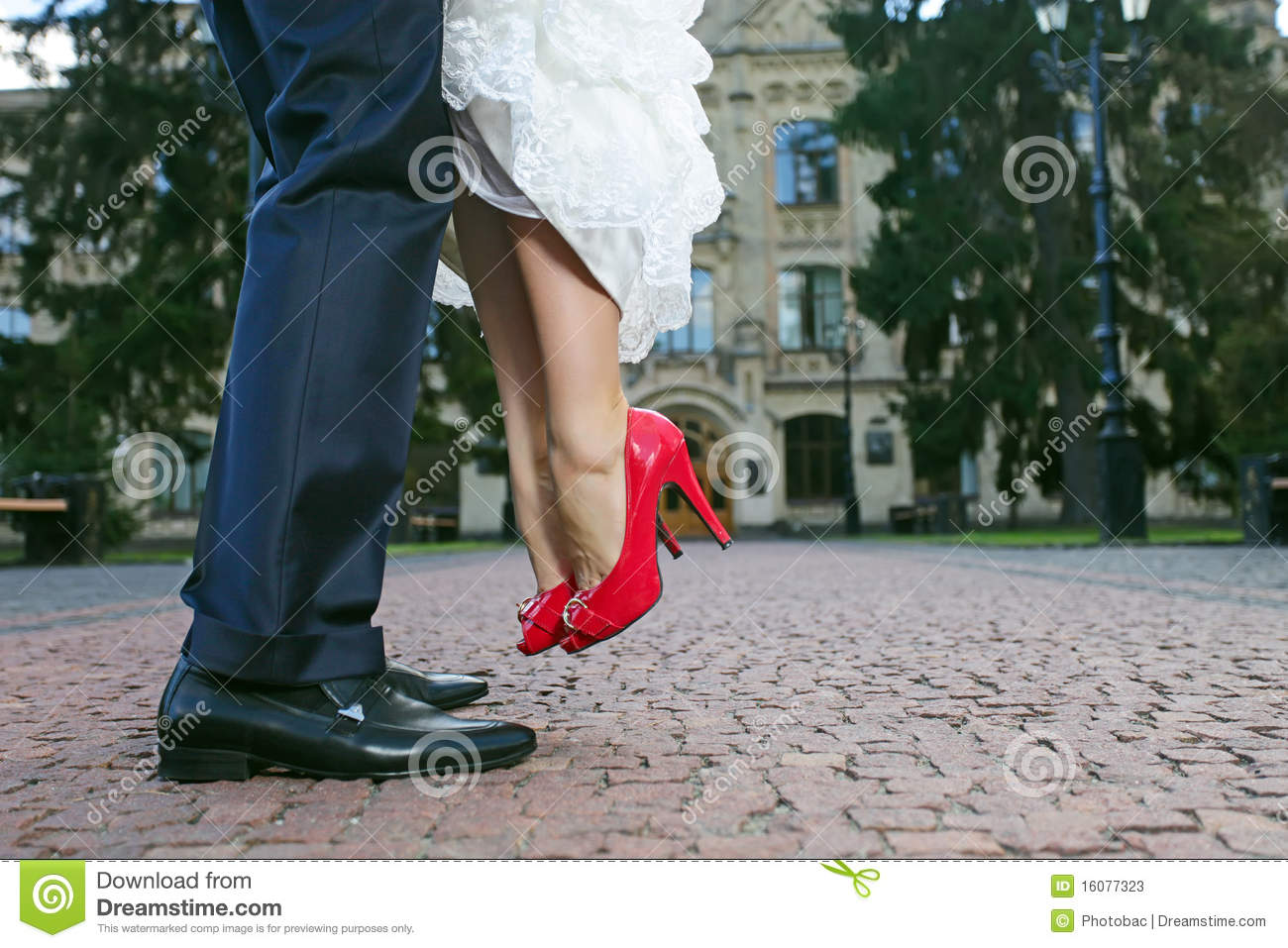 Lifting Shoes During Wedding