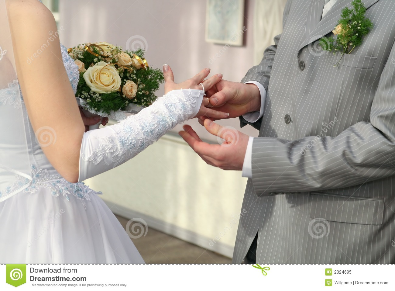 Groom Put Ring On Brides Finger Stock Image Image of groom trust