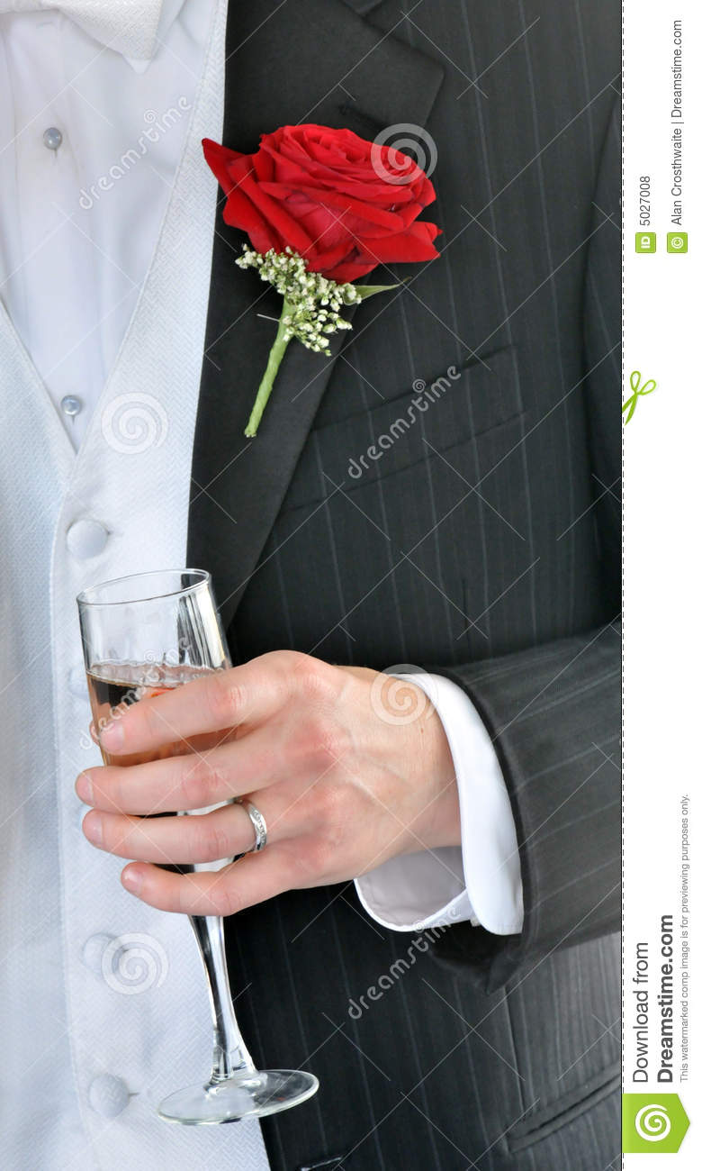 Groom's Toast stock photo  Image of gown, marriage, bridal