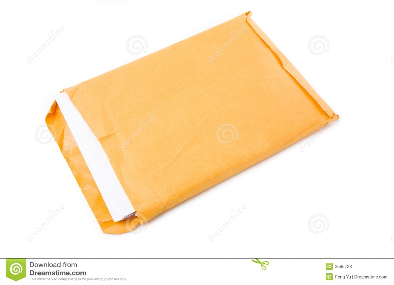 Groot envelop en document