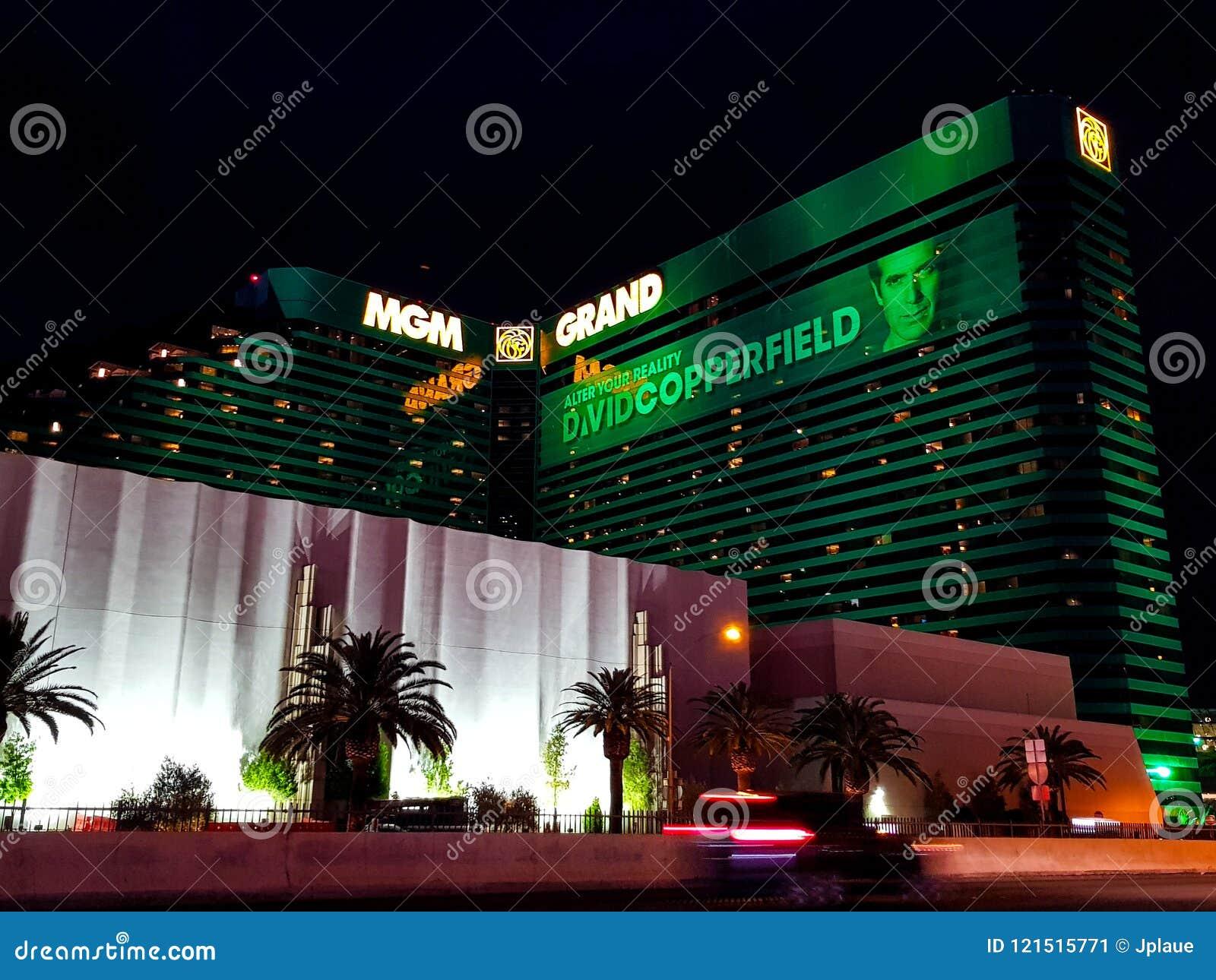 Groot het Casinohotel van MGM in Las Vegas bij nacht