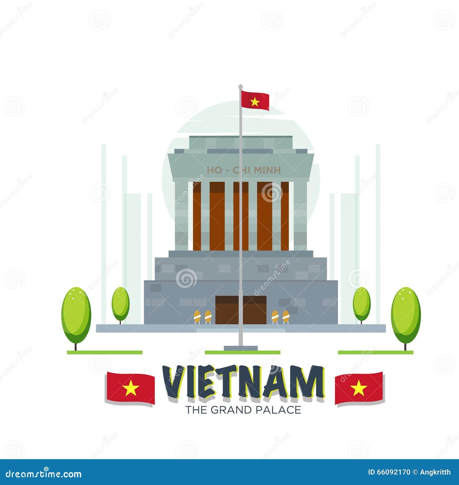 Groot het paleisoriëntatiepunt van Vietnam -