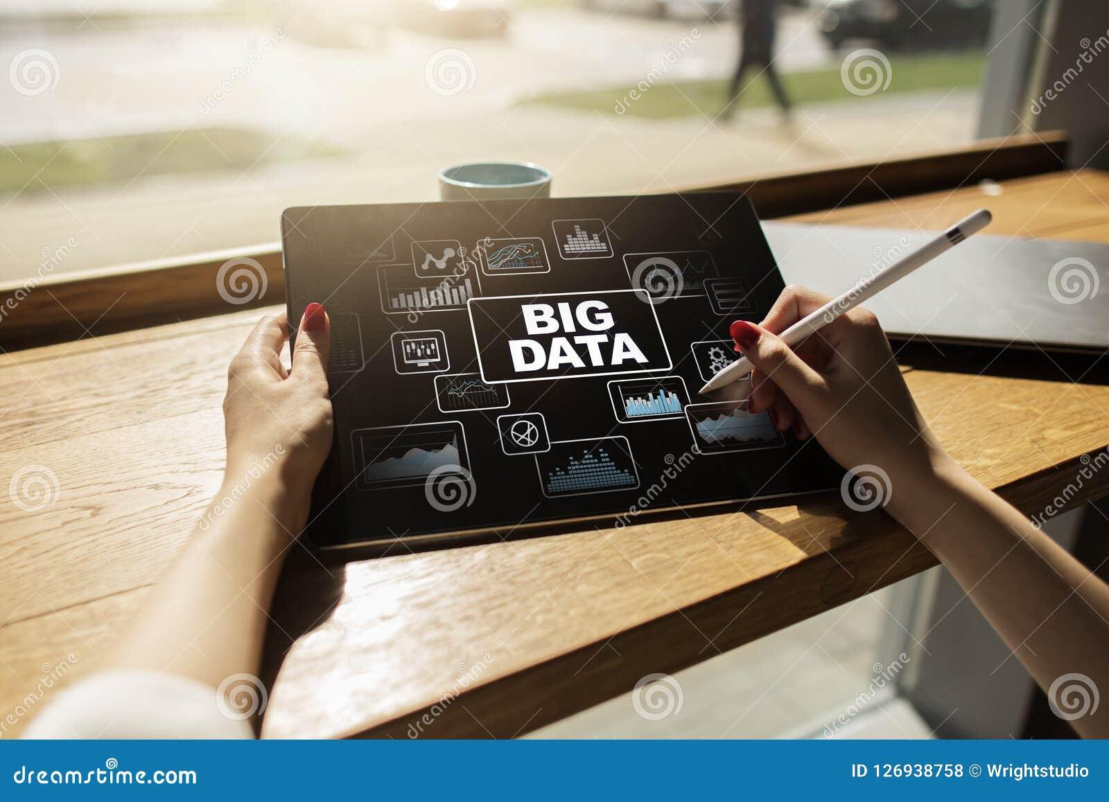 Groot het procesbeheer van gegevensanalytics Bedrijfs en technologieconcept