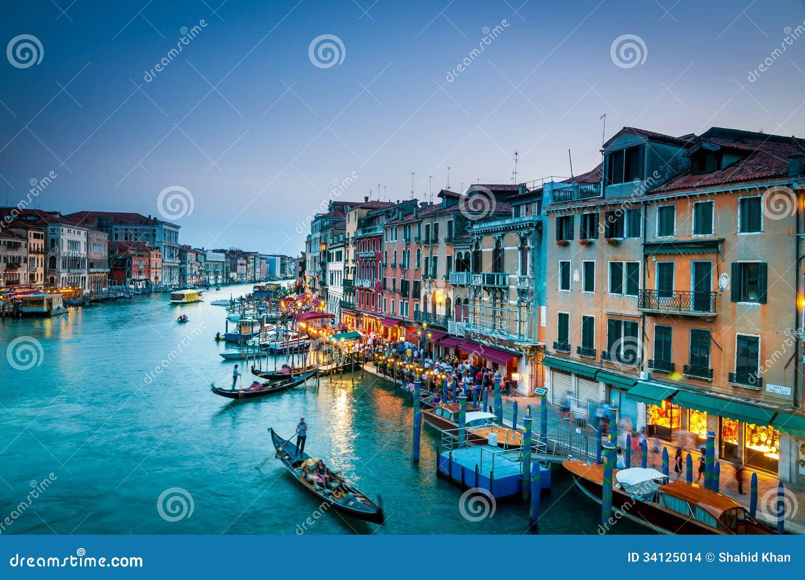 Groot Kanaal Kleurrijk Venetië