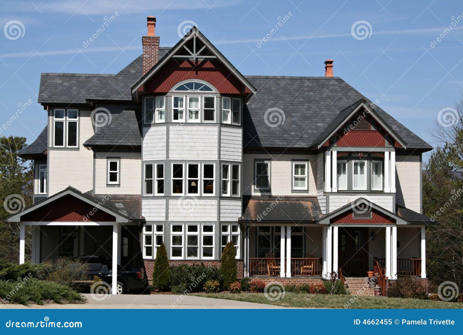 Groot modern huis royalty vrije stock foto beeld 4662455 - Foto modern huis ...