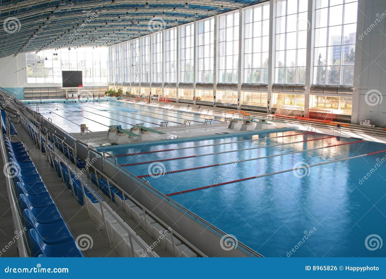 Groot modern zwembad royalty vrije stock afbeelding afbeelding 8965826 for Modern zwembad