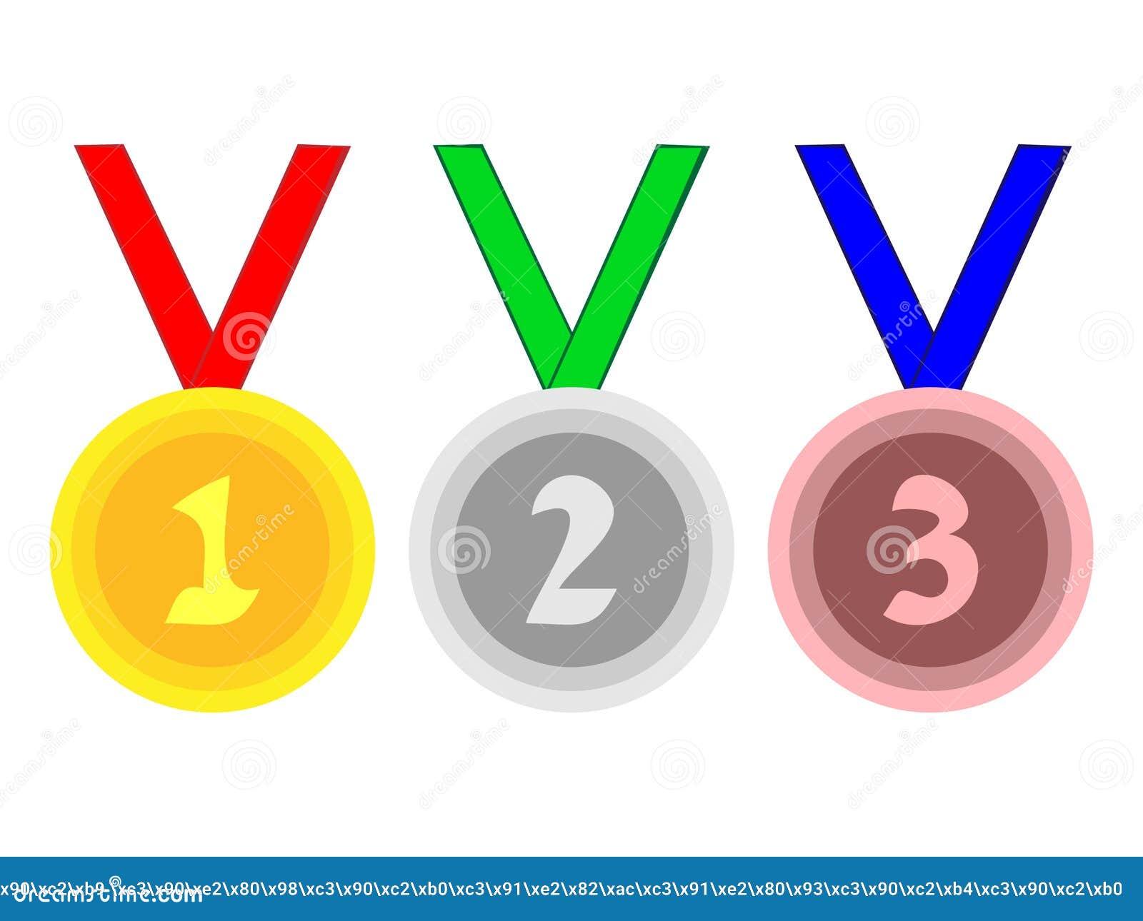 Groot ontwerp van medailles voor sportieve verwezenlijkingen