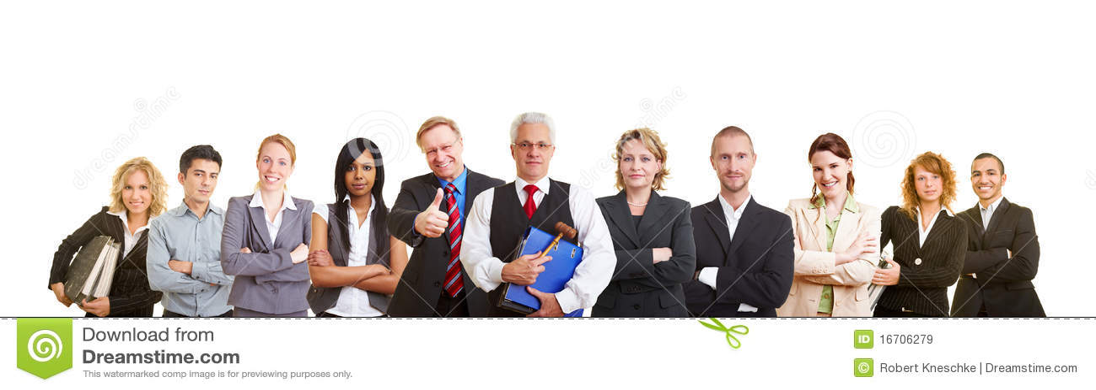 Groot team van advocaten