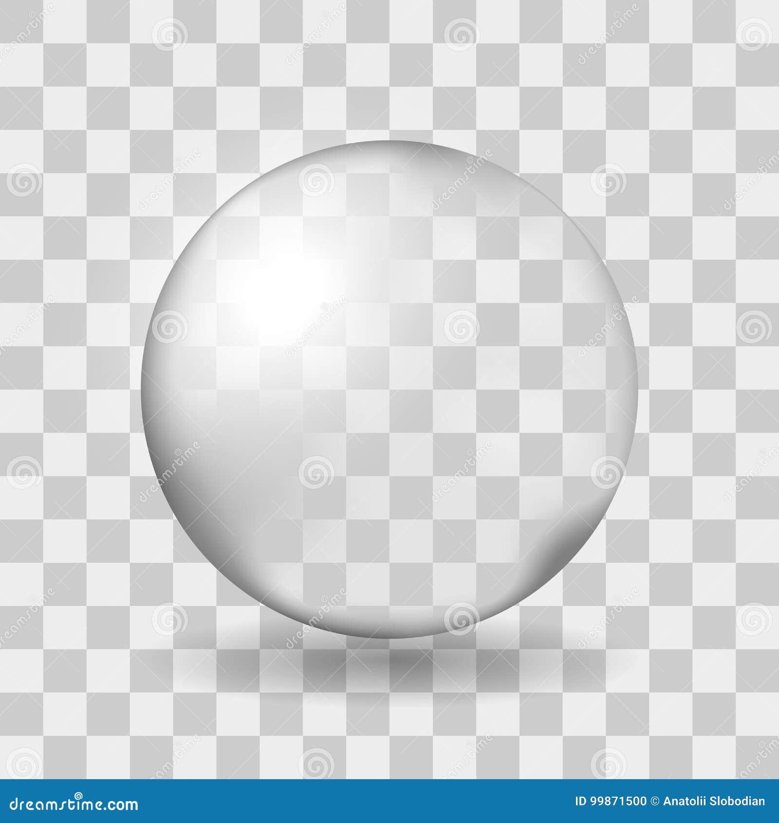 Groot transparant glasgebied met glans en schaduw Transparantie slechts in vectordossier