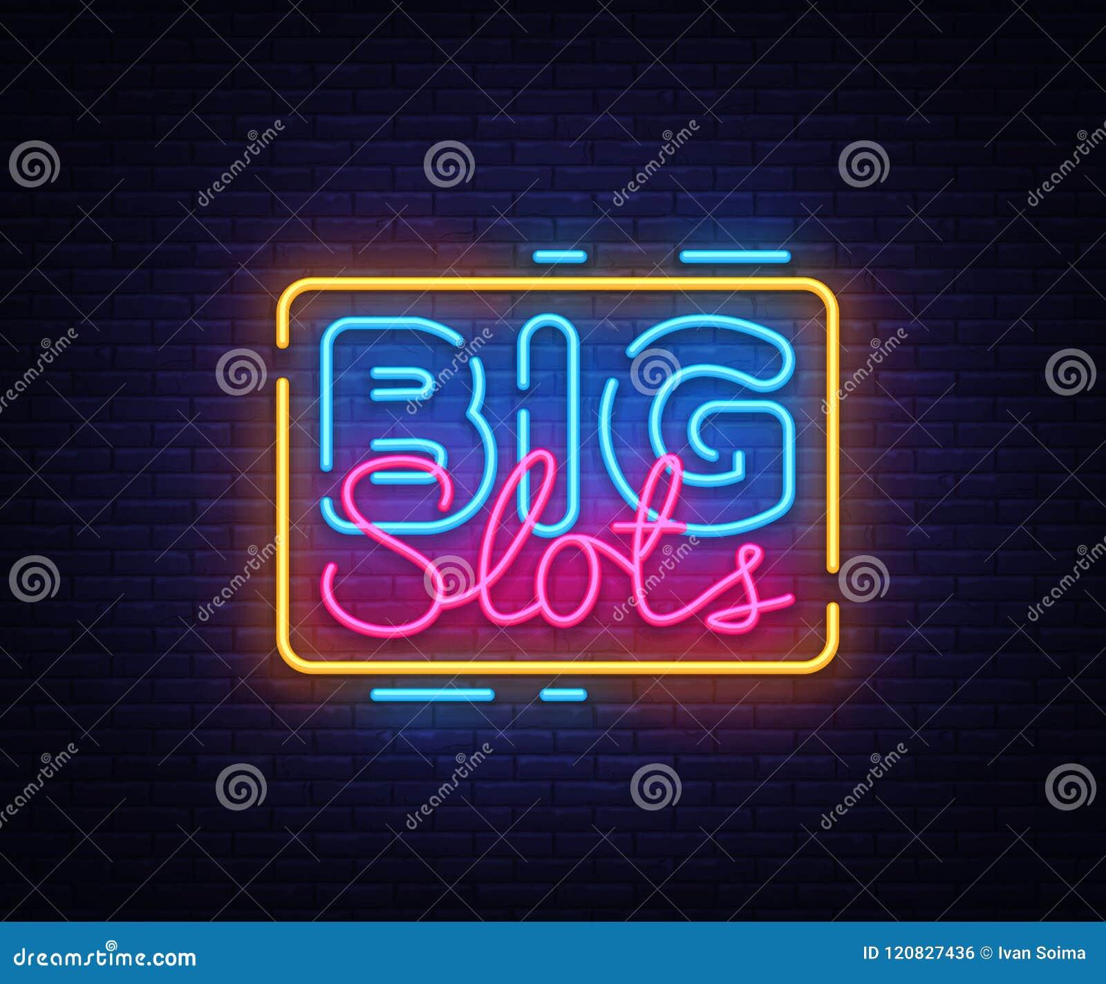 Groot vector het ontwerpmalplaatje van het Groeventeken Het embleem van het casinoneon, de lichte tendens van het het elementen k