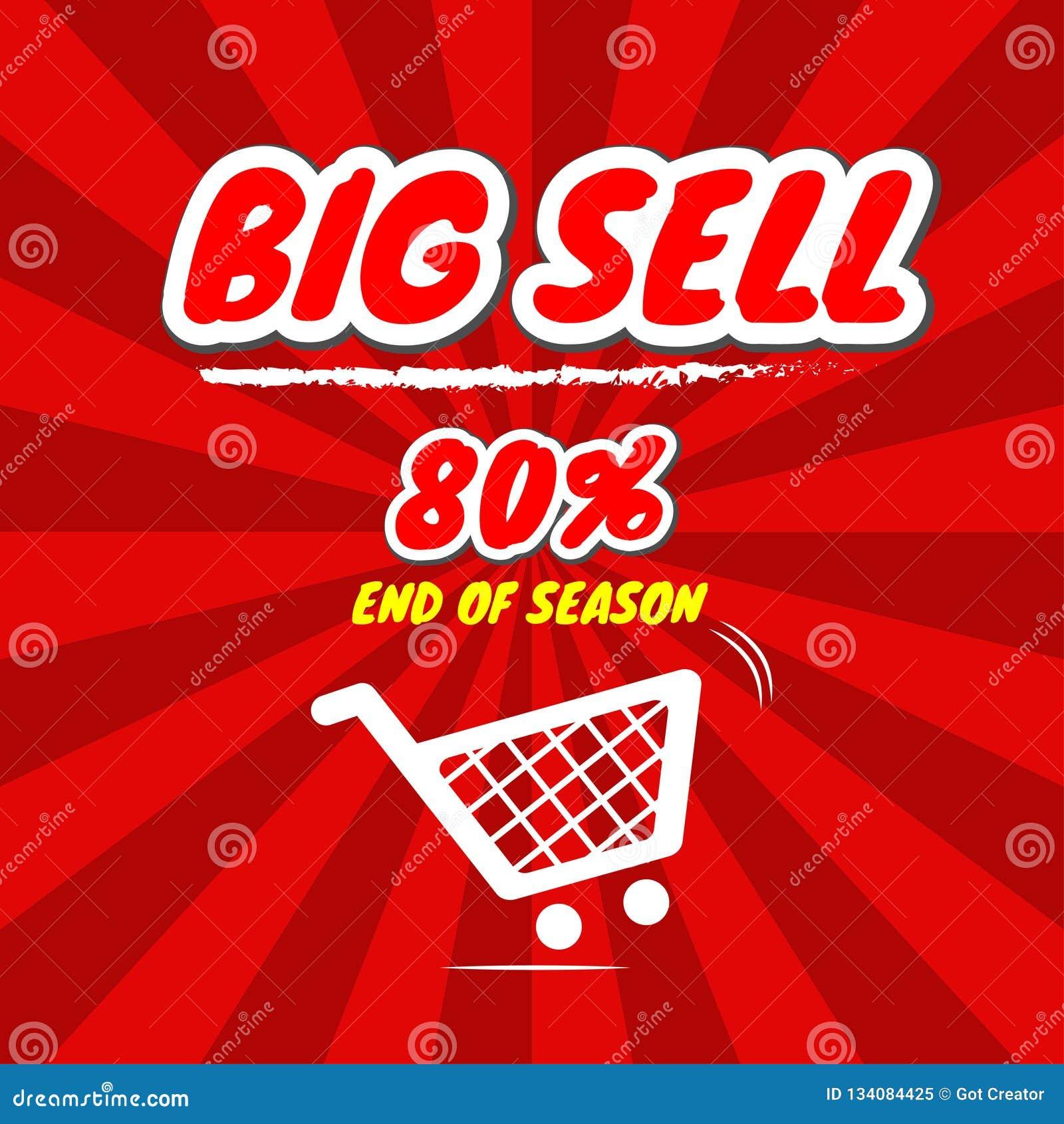 Groot verkoop bevordering met prijskaartje