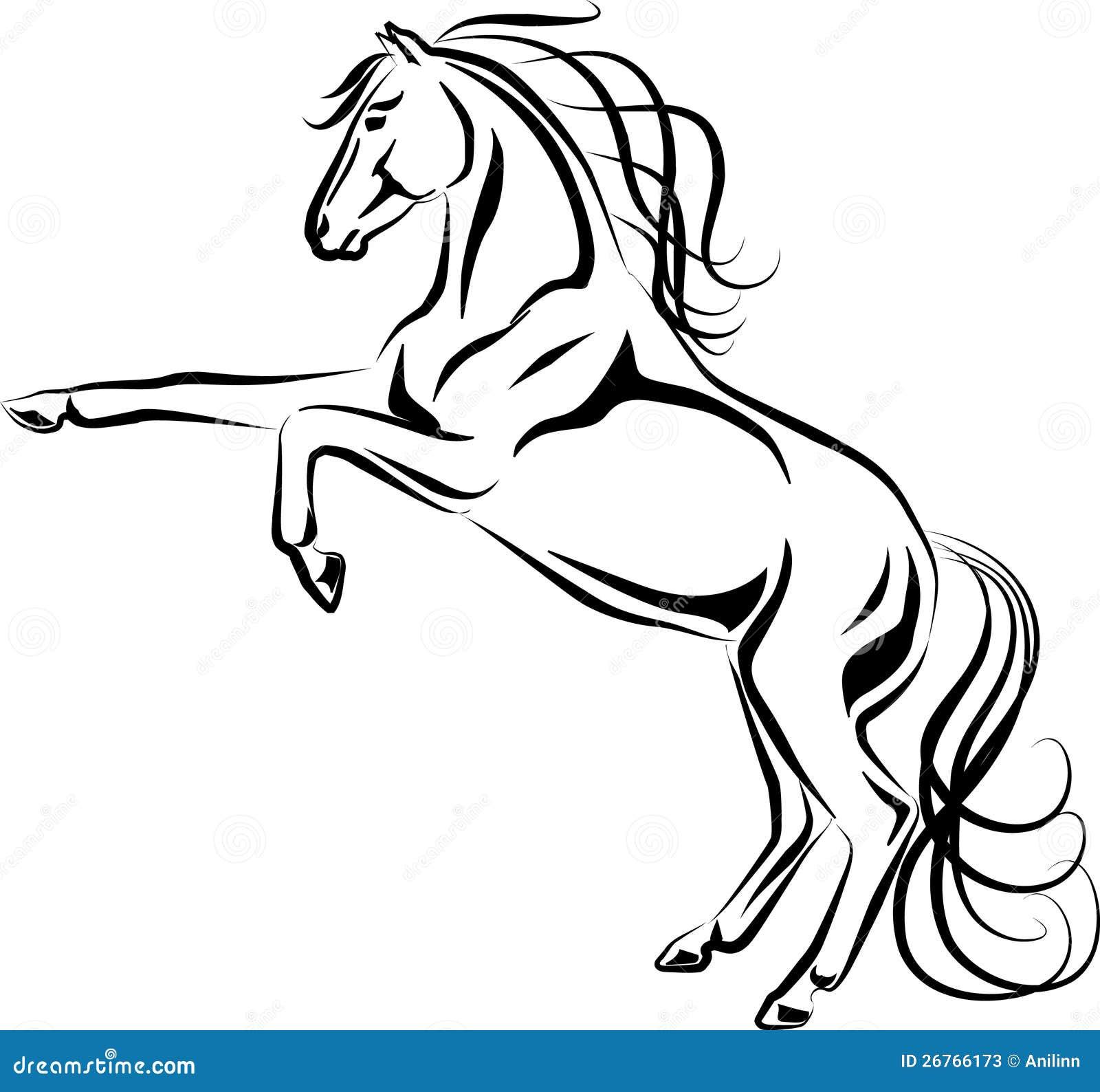Grootbrengend Paard Vector Illustratie Illustratie
