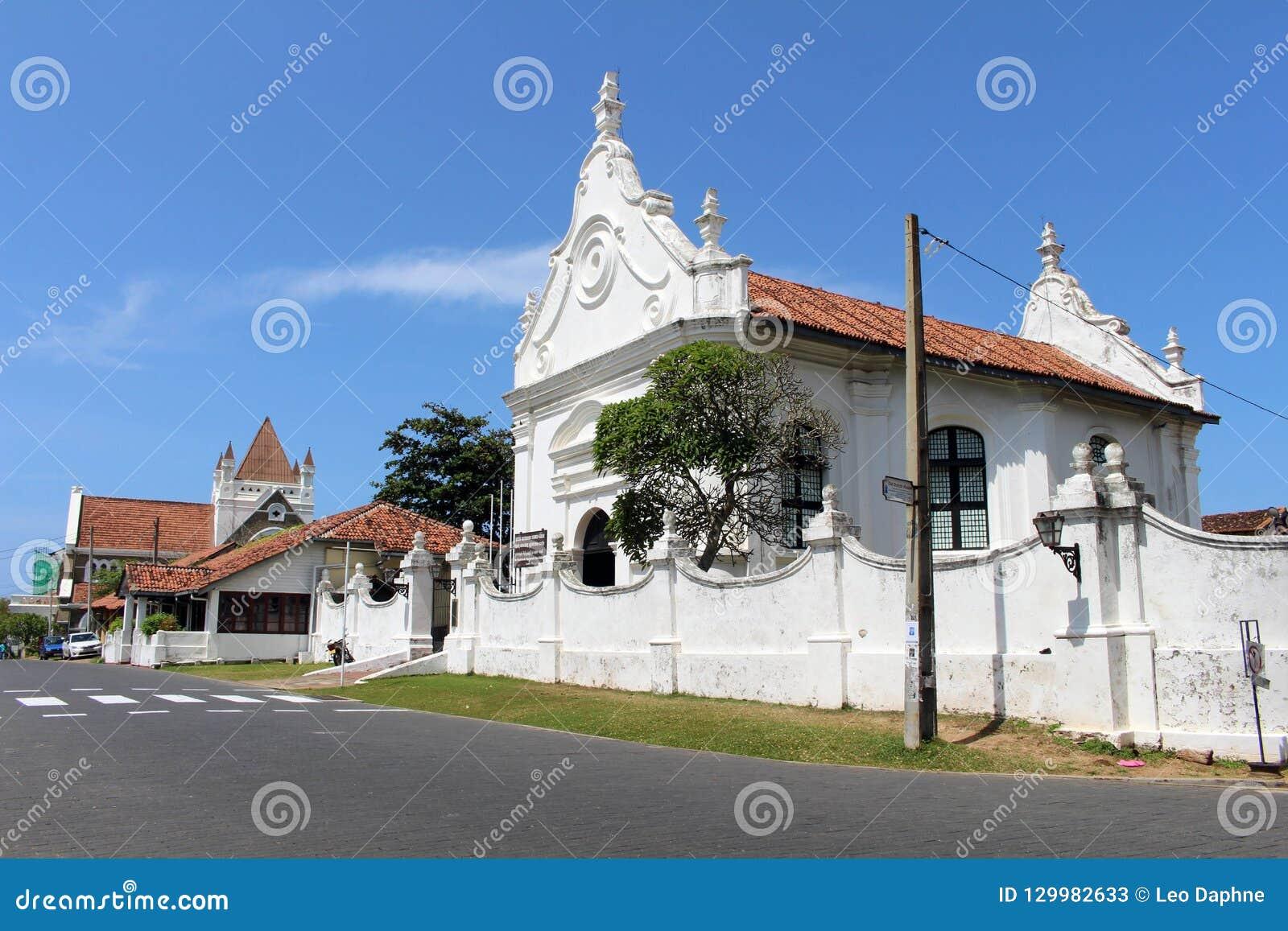 Grooten Kerk eller holländsk omdanad kyrka inom det Galle fortet