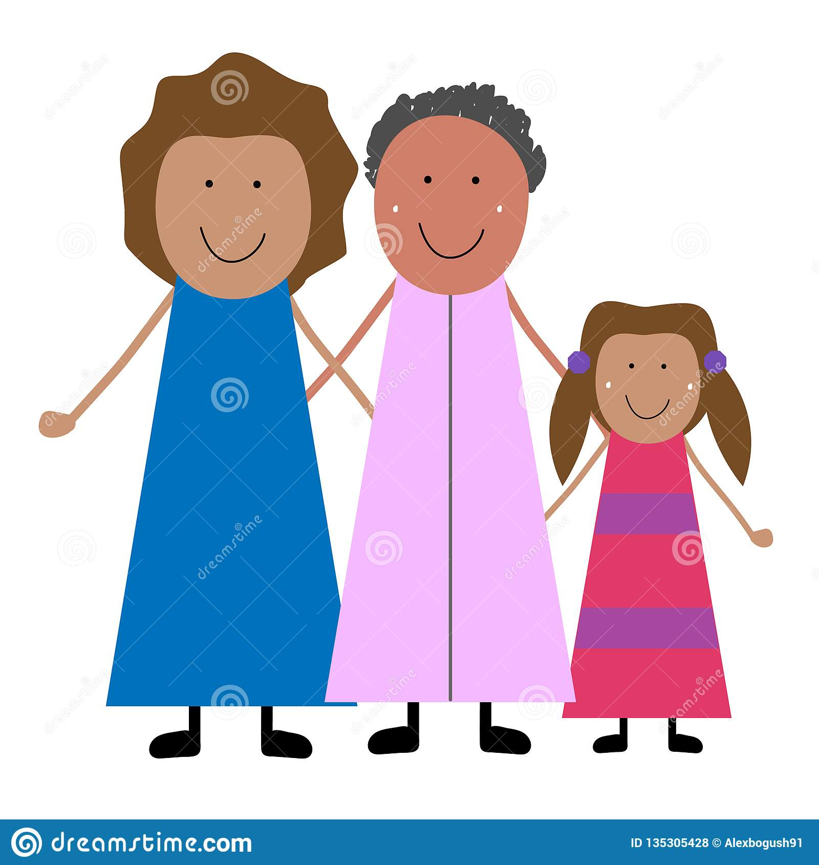 Grootmoeder met dochter en kleindochter