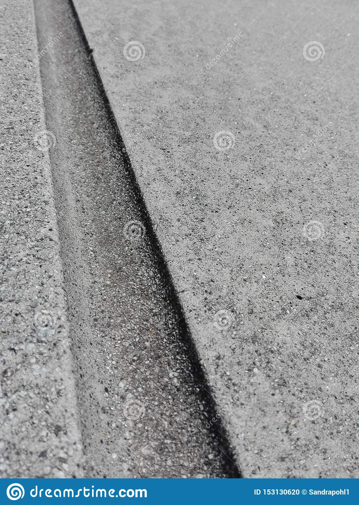 Groove in the concrete background